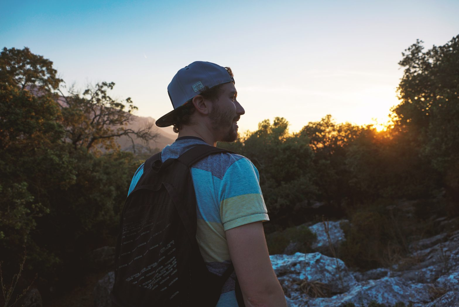 Philip im Sonnenuntergang