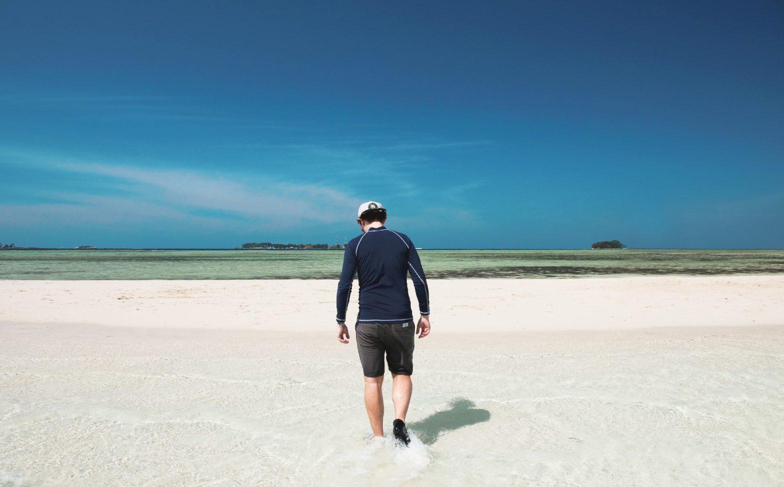 Philip am Sandstrand